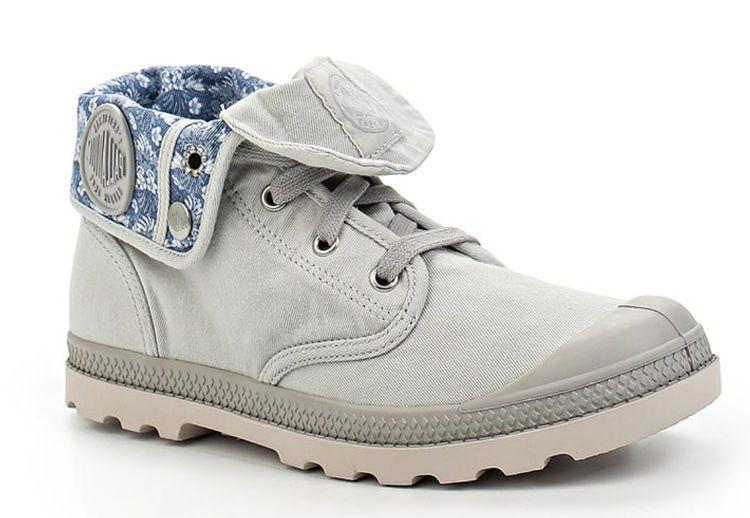Женские ботинки Palladium TWILL CANVAS Baggy Low LP TW P 93673-030 светло- серые 2b71219bd09bb
