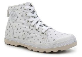 Женские ботинки Palladium TWILL CANVAS Pallabrouse Mid LP 93825-927 белые b8e20da04a52d