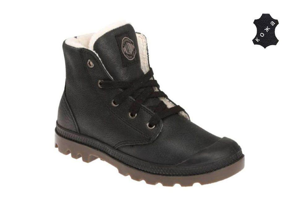 28e7c79bd Зимние мужские ботинки Palladium Pampa Hi Leather S 02609-072 черные ...