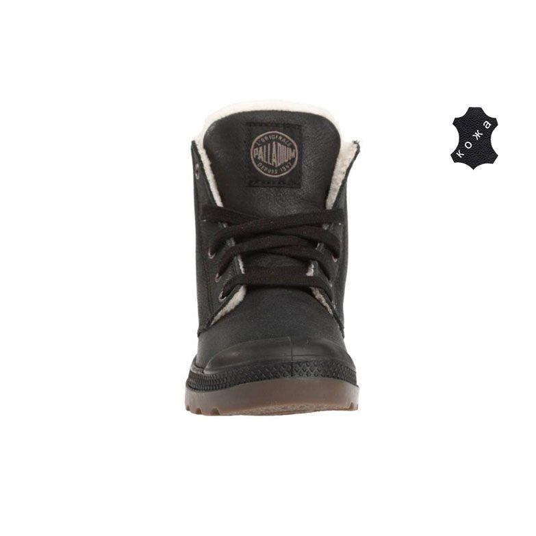 Зимние мужские ботинки Palladium Pampa Hi Leather S 02609-072 черные ... d963a60f9c5c5