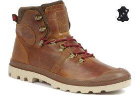 Кожаные мужские ботинки Palladium Pallabrouse Hikr 05139-233 коричневые 7e4fcb96bd5b6