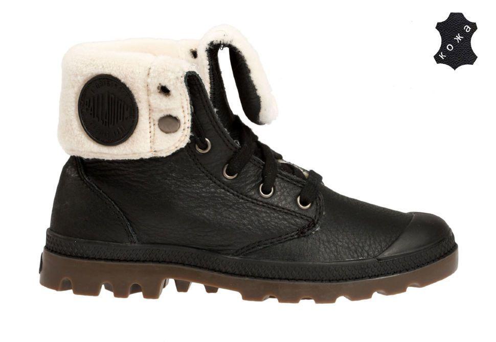 Зимние мужские ботинки Palladium Baggy Leather S 02610-072 черные ... e843173bd0856