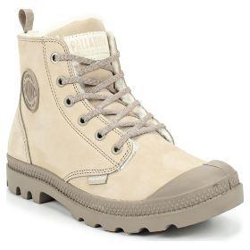 20e78432 Ботинки женские Palladium Pampa Hi Zip Wl 95982-071 кожаные зимние с мехом  бежевые