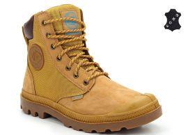 7107815fc Кожаные мужские ботинки Palladium Pampa Sport Cuff WPN 73234-228 коричневые