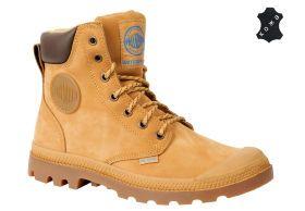 Кожаные мужские ботинки Palladium Pampa Sport Cuff WP 72991-228 светло -коричневые a806a15492f1b