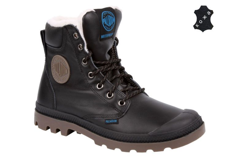 Зимние ботинки Palladium Pampa Sport Cuff WP S 72992-057 черные ... ae9ac3221256b