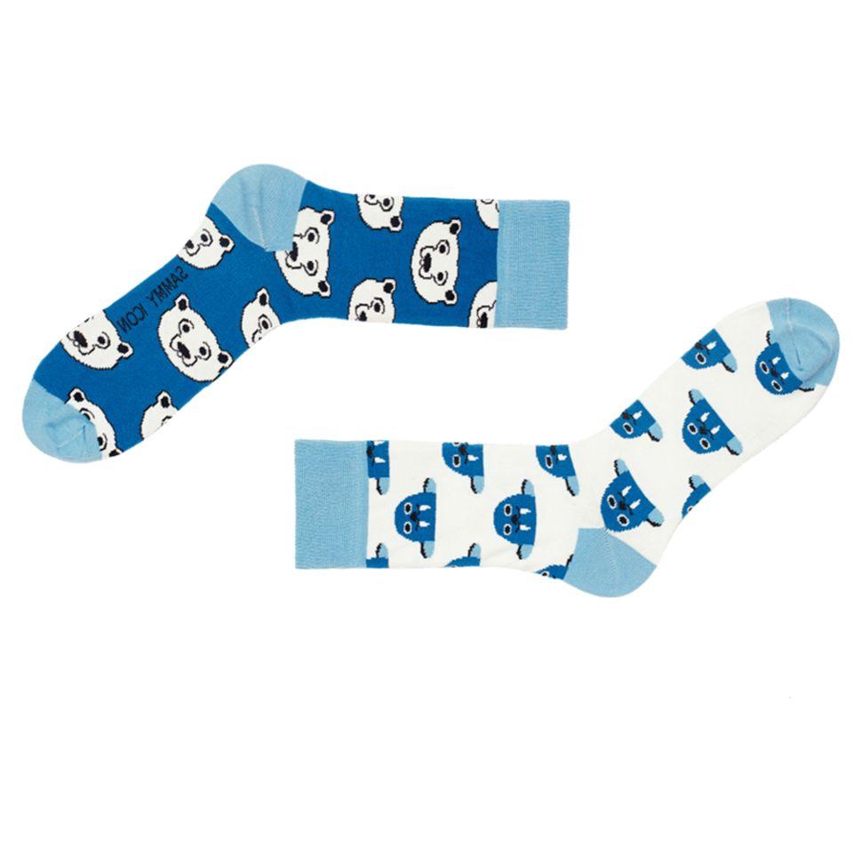 Носки мужские Sammy Icon Polar (40-46) с рисунком голубые купить по ... ab6a8b9a9339d