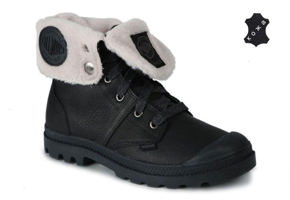 Зимние женские ботинки Palladium Pallabrouse 93472-001 черные купить ... 82c8d413b4b7b