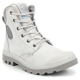 Ботинки женские Palladium Pampa Sport Cuff Wps 72992-096 кожаные зимние с  мехом белые 590c6496271e6