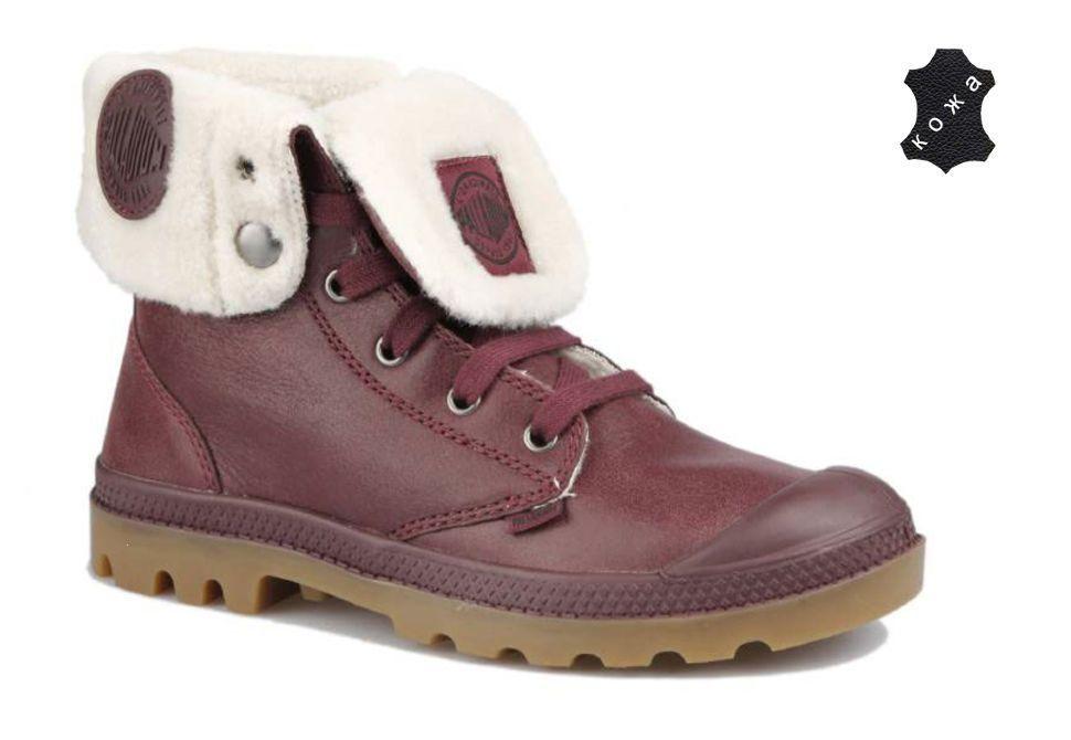 Зимние ботинки Palladium Baggy Leather S 92610-652 бордовые купить ... 89e85d2ff74a1
